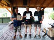 Najlepsi - od lewej Tomasz, Łukasz i Jacek